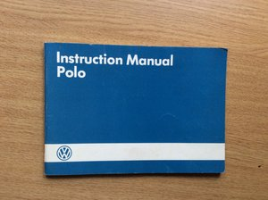 VOLKSWAGEN POLO Instruction Manual