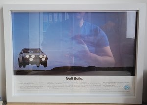 Original Golf GTi Framed Advert