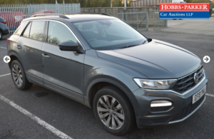 2019 VW T-Roc SE TDI 17,336 Miles for auction 25th
