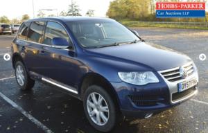 Volkswagen Touareg SE 174 TDI 103,470 Miles for auction 17th