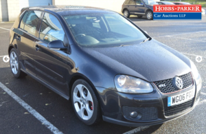 2006 Golf GTI Auto 113,276 miles for auction 25th