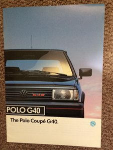 VW Polo G40 Coupe brochure