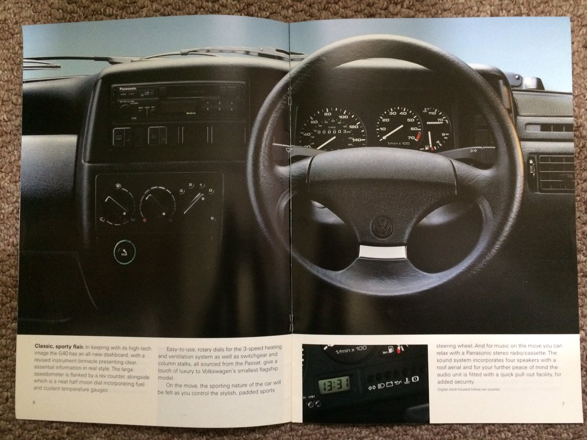 VW Polo G40 Coupe brochure For Sale (picture 2 of 6)