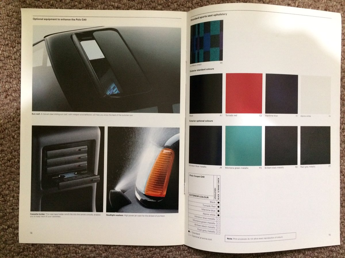 VW Polo G40 Coupe brochure For Sale (picture 6 of 6)