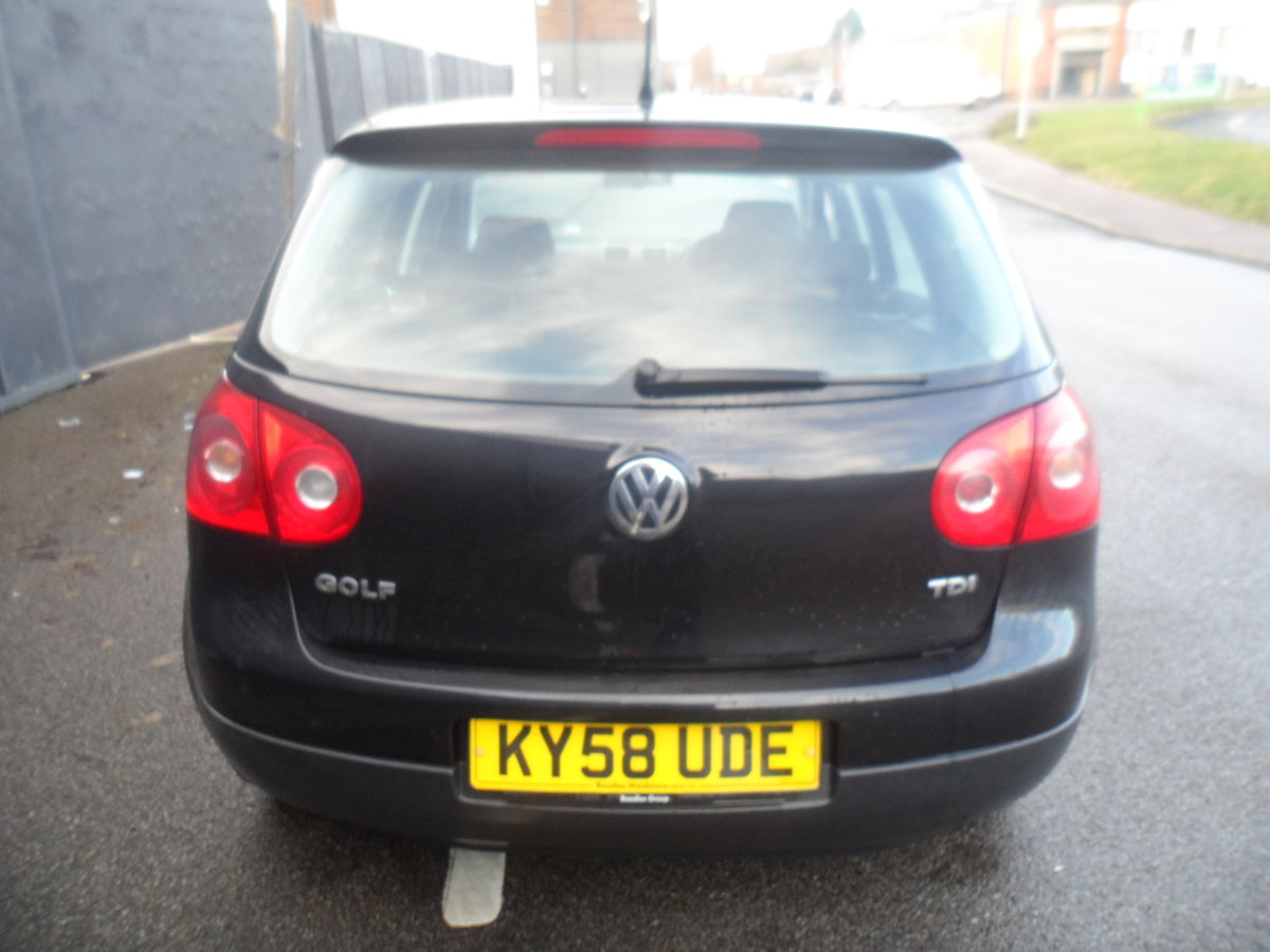 2010 10 PLATE GOLF 5 DOOR 1900cc DIESEL IN BLACK FITTED  ALLOYS For Sale (picture 8 of 12)