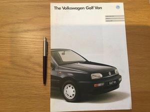 Picture of 1994 Volkswagen Golf Van brochure SOLD