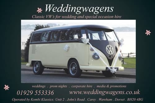 1965 Weddingwagens VW camper van wedding hire Dorset. For Hire (picture 1 of 5)