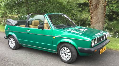 1982 Golf Mk 1 Convertible (Mint) SOLD (picture 1 of 5)
