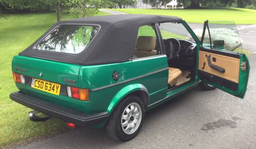 1982 Golf Mk 1 Convertible (Mint) For Sale (picture 3 of 5)