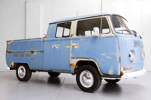 LHD 1969 T2 Volkswagen VW Double Crew Cab Pick Up Truck For Sale (picture 1 of 6)