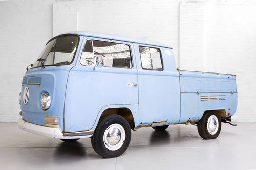 LHD 1969 T2 Volkswagen VW Double Crew Cab Pick Up Truck For Sale (picture 3 of 6)