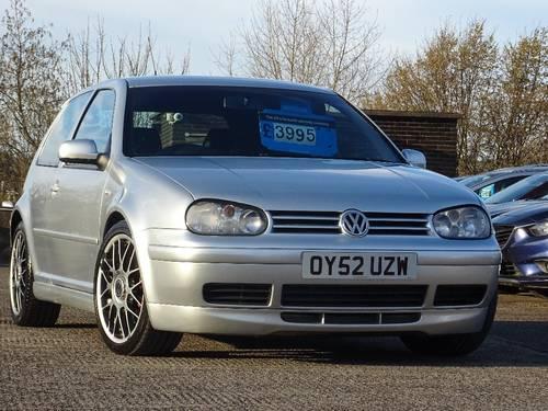 2002 Volkswagen Golf 1.9 TDI PD GTI Anniversary Ltd Edition For Sale (picture 1 of 6)