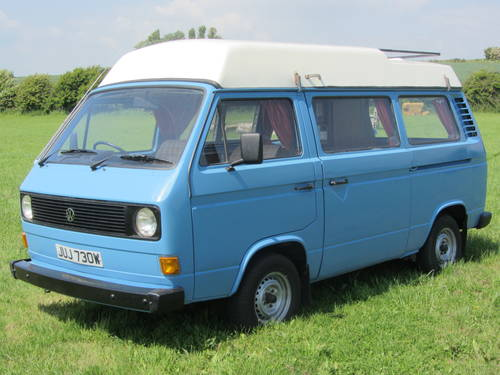 1980 Volkswagen Camper only 74,000 miles from new For Sale SOLD (picture 1 of 6)