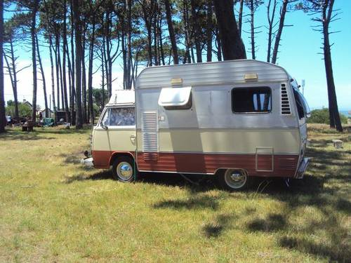 1977 VW bay window Karmann Ghia camper For Sale (picture 2 of 6)