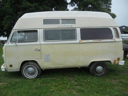 1973 V W Bay window high top camper van. SOLD (picture 1 of 6)