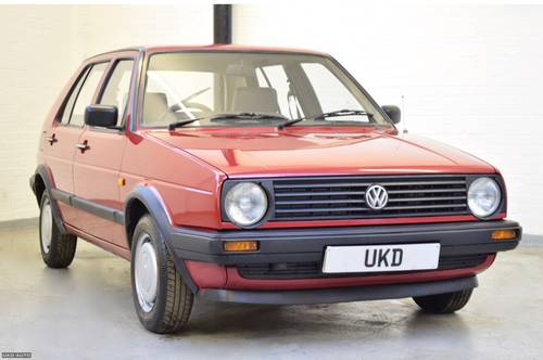 VW VOLKSWAGEN GOLF MK2 1.3 5DR RED 1988  SOLD (picture 1 of 6)