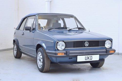 VW VOLKSWAGEN GOLF MK1 KARMANN CABRIOLET BLUE 1983 1.5 GL SOLD (picture 1 of 6)