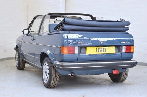 VW VOLKSWAGEN GOLF MK1 KARMANN CABRIOLET BLUE 1983 1.5 GL SOLD (picture 5 of 6)
