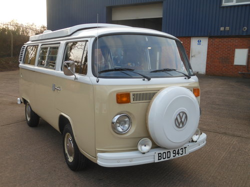 1979 VW Type 2 Devon Camper Beige/White with Tan trim SOLD (picture 1 of 6)