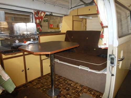 1979 VW Type 2 Devon Camper Beige/White with Tan trim SOLD (picture 5 of 6)