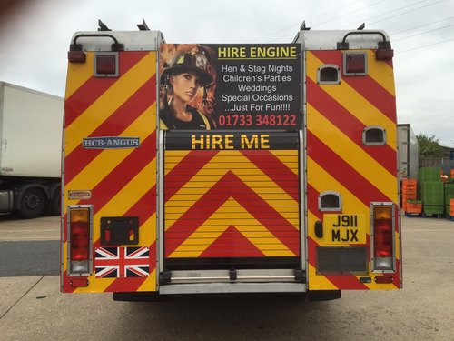 1992 Fire Engine Limousine 8 Seater Ideal for Parties & Proms For Sale (picture 2 of 6)