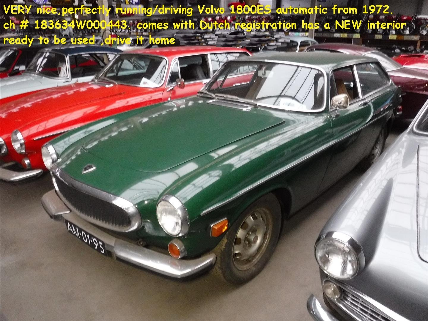 1972 Volvo 1800 ES very nice ! For Sale (picture 6 of 6)