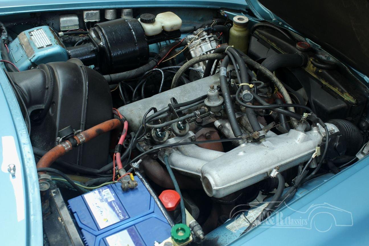 Volvo P1800 E 1972 overdrive, Light Blue Metallic For Sale (picture 4 of 6)