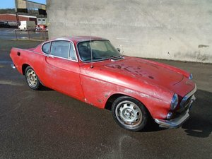 VOLVO P1800S MANUAL LHD COUPE (1970) FACTORY RED!  SOLD
