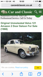 1968 Volvo Amazon 121 coupe