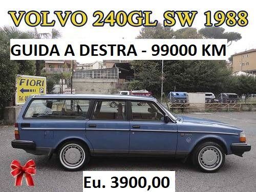 CLASSIC ICONIC  VOLVO 240 GL S.WAGON .....1988 For Sale (picture 2 of 6)