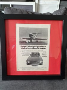 1970 Original A5 Volvo 144 advert