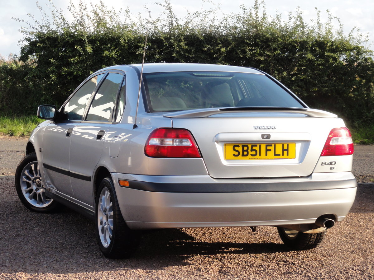 Volvo S40 S 1.8 Saloon, 2002 / 51 Reg, Only 24k Miles SOLD (picture 4 of 6)