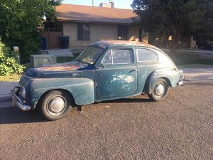1960 Volvo 544 solid dry desert Blue Patina B16 driver $3.9k For Sale