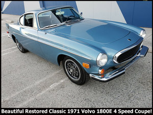1971 Volvo 1800E Coupe Clean Blue(~)Black Manual $21.9k For Sale