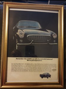 1963 Volvo P1800 Advert Original