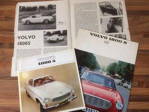 Volvo P1800S literature. For Sale