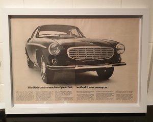1967 Original Volvo 1800S Framed Advert