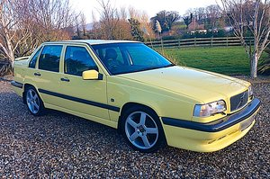 1995 VOLVO 850 T-5R LTD EDITION 1 OF 39 UK YELLOW SALOONS