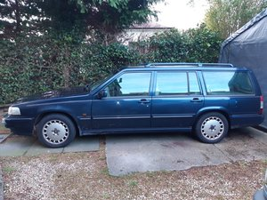 1996 Volvo 960  965 estate Auto blue with tan leather For Sale