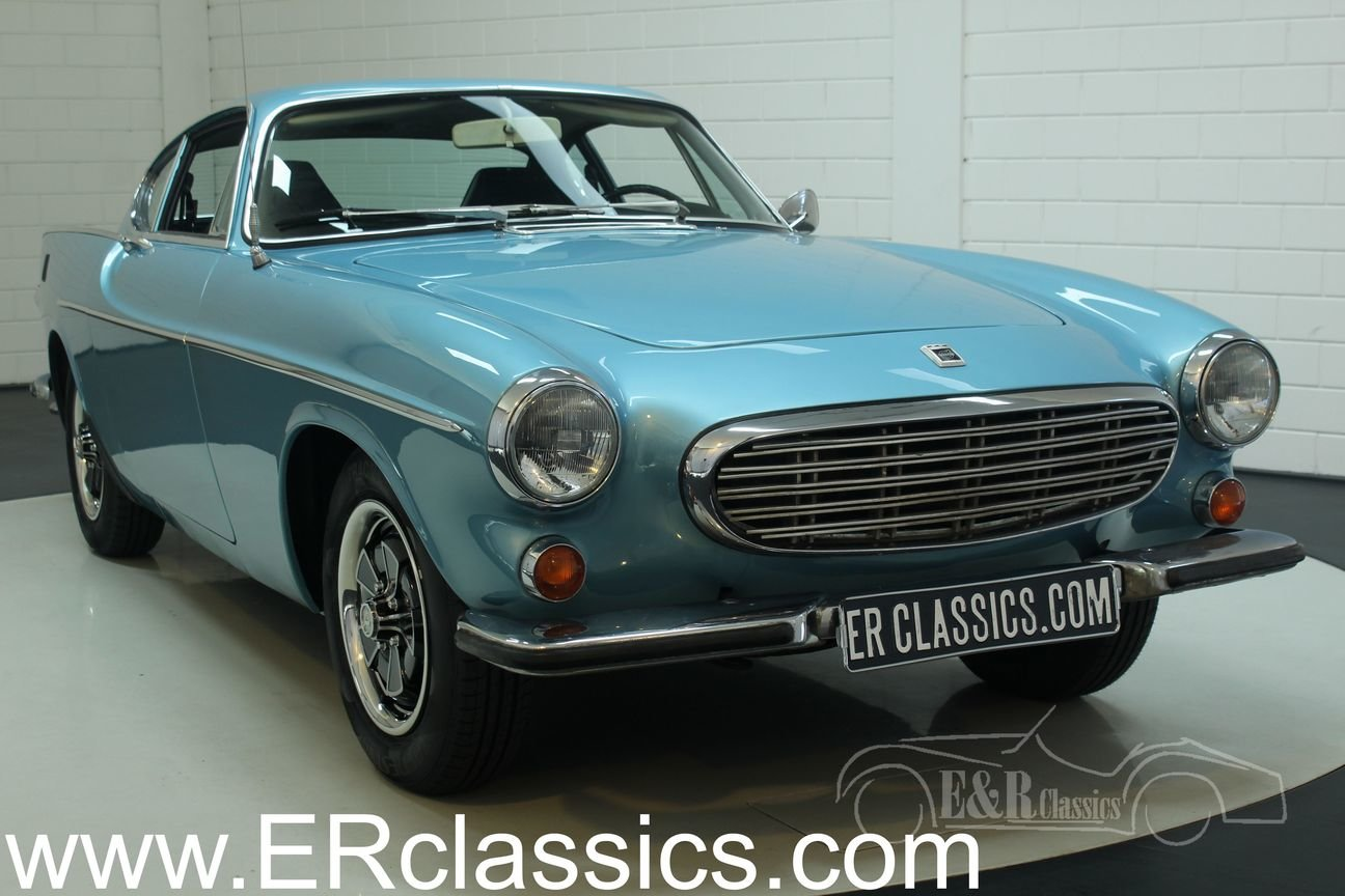 Volvo P1800 E 1972 overdrive, Light Blue Metallic For Sale (picture 1 of 6)