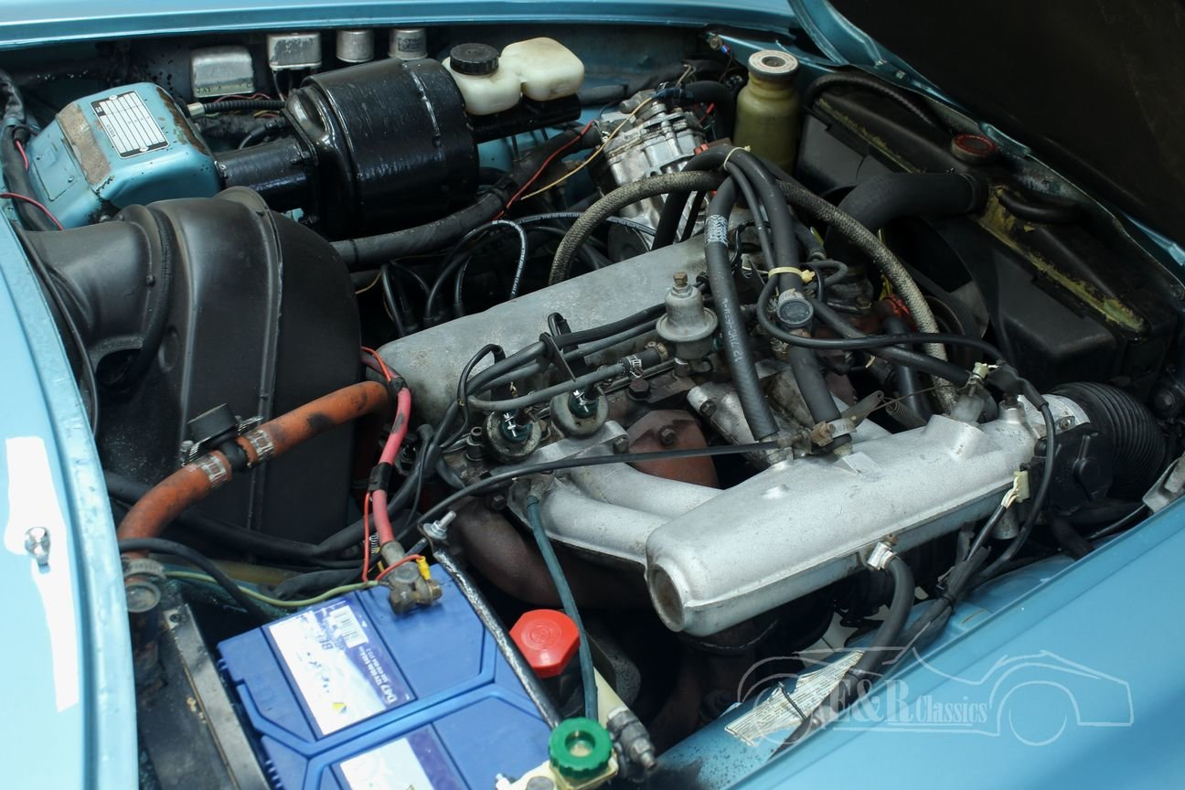 Volvo P1800 E 1972 overdrive, Light Blue Metallic For Sale (picture 4 of 6)