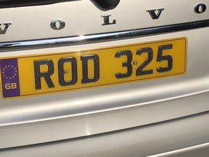 2014 Cherished Registration Number ROD 325