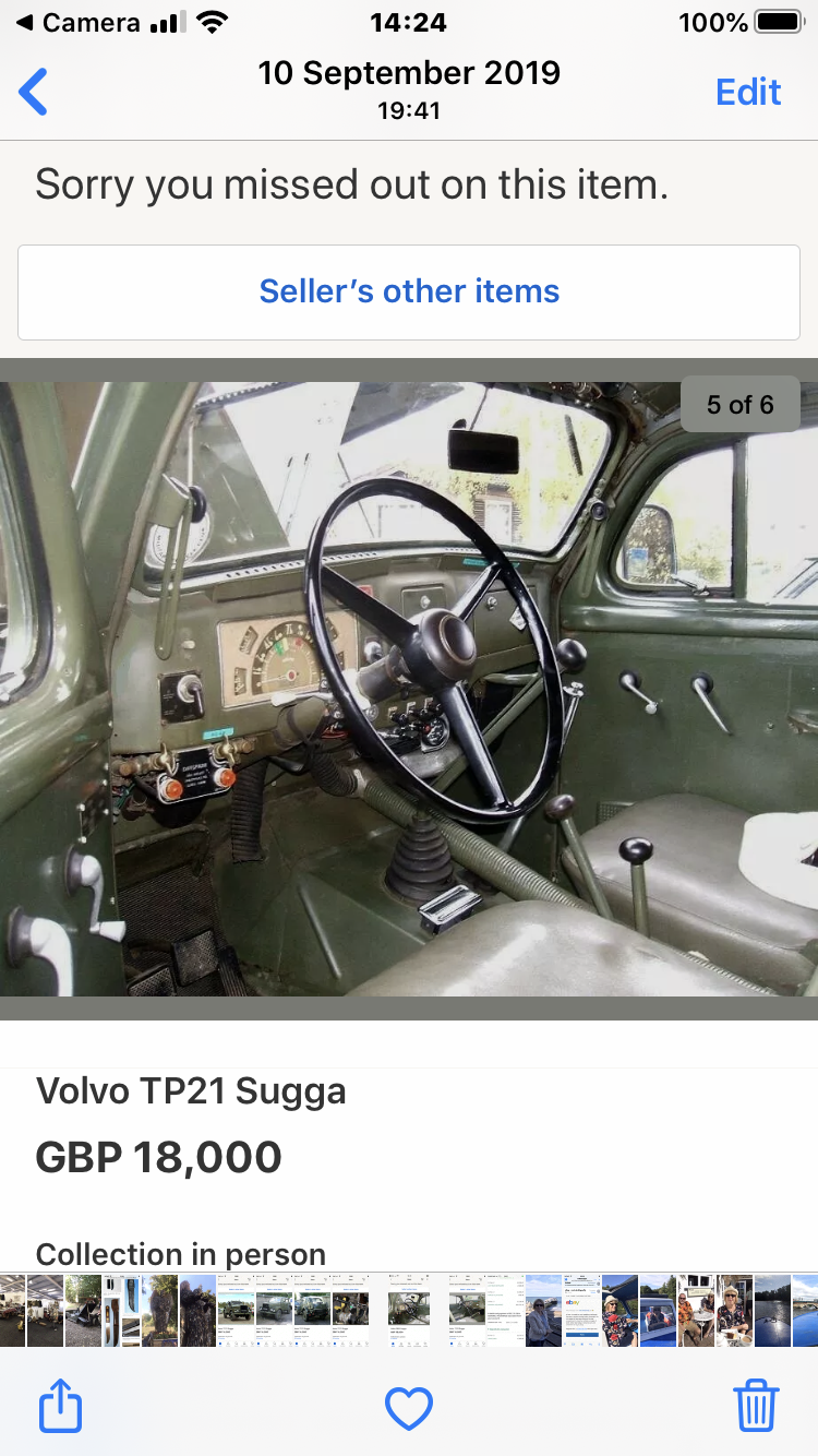 1958 Volvo command car For Sale (picture 6 of 6)