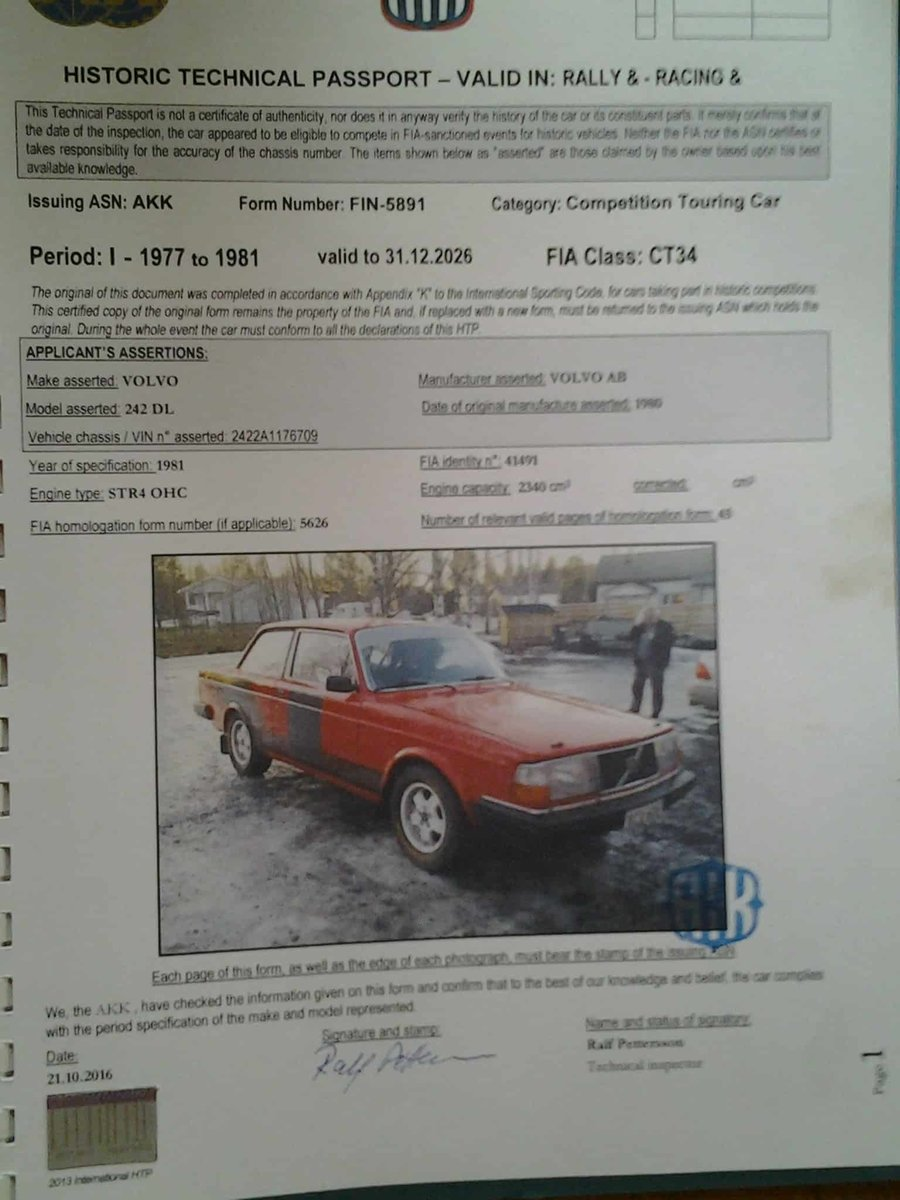 1980 Volvo 240 Historic Rally Car For Sale (picture 5 of 6)