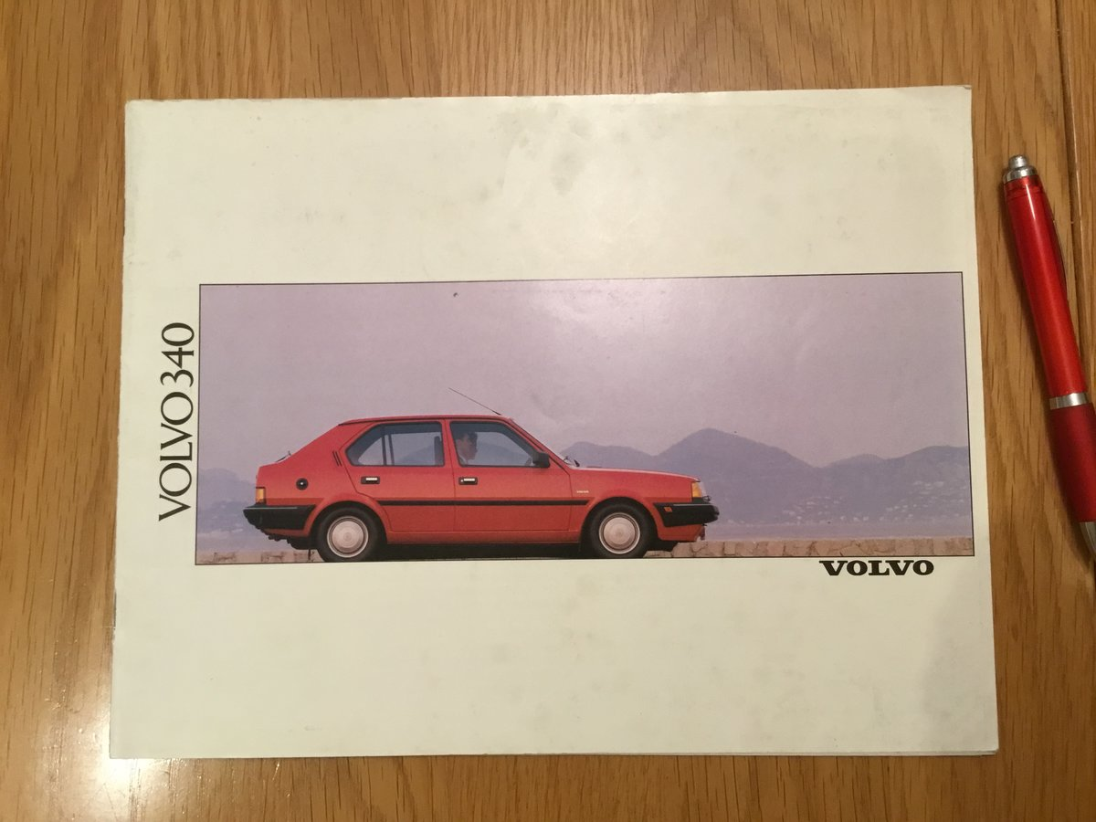 1990 Volvo 340 range brochure For Sale (picture 1 of 1)