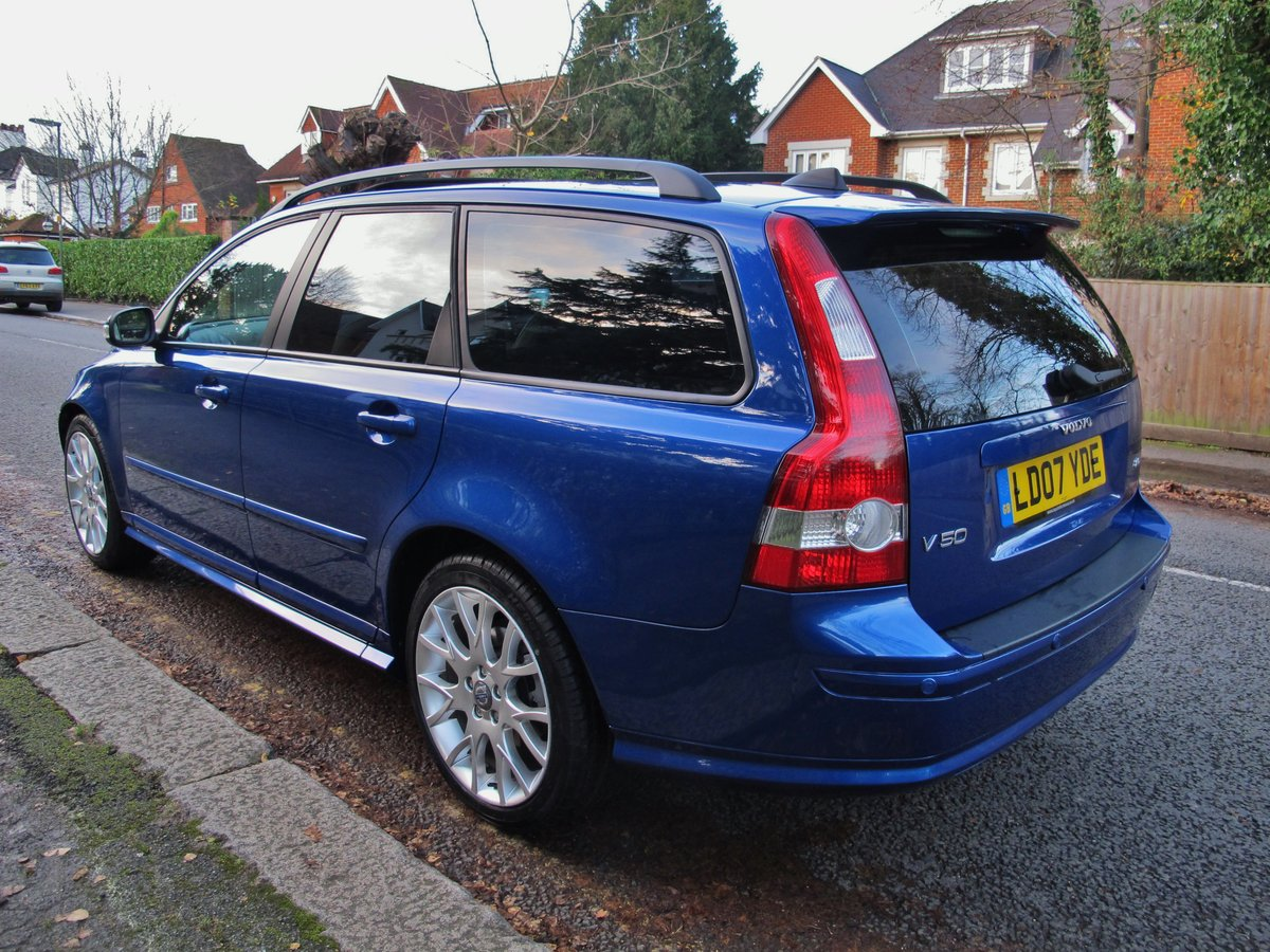 2007 VOLVO V50 2.0 D SE SPORT 1 OWNER+VOLVO 19400 m FSH LEATHER For Sale (picture 3 of 12)