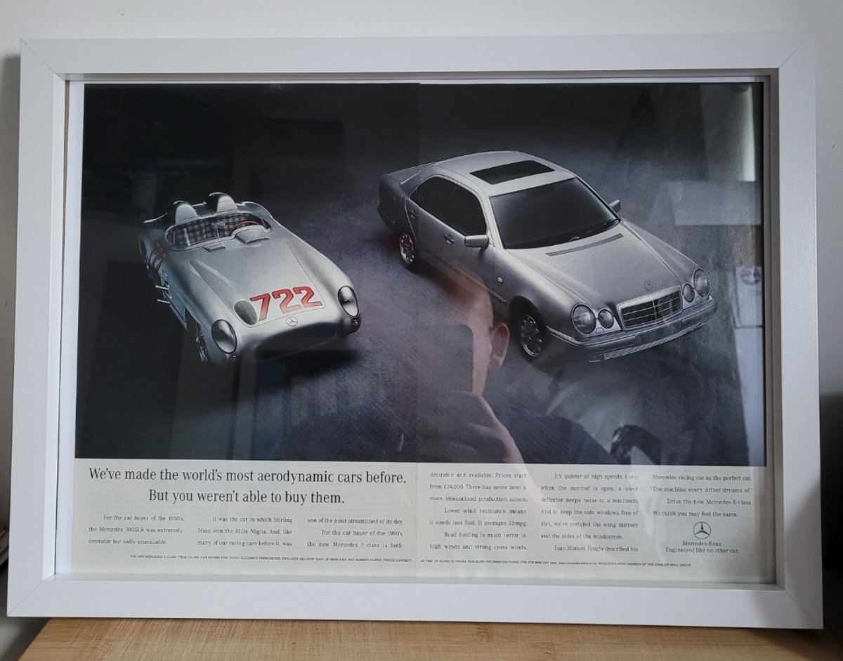 1967 Original 1996 Mercedes E Class Framed Advert For Sale (picture 1 of 3)