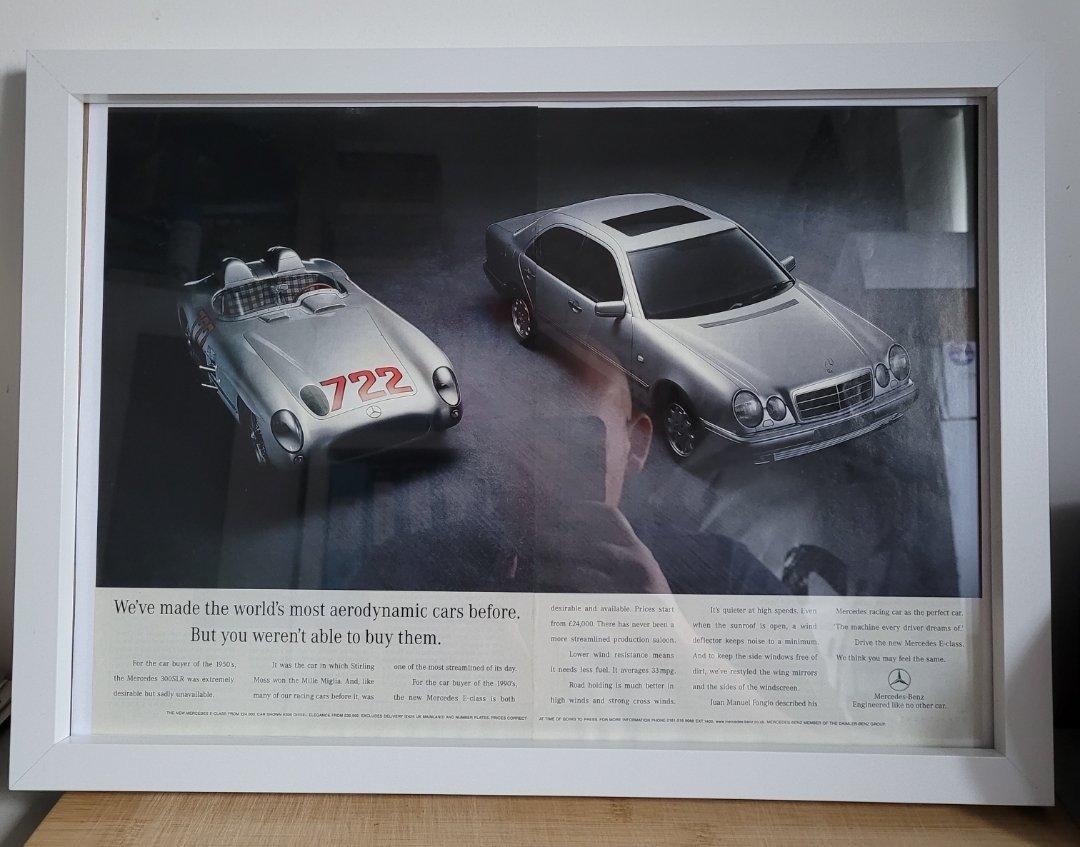 Picture of 1967 Original 1996 Mercedes E Class Framed Advert