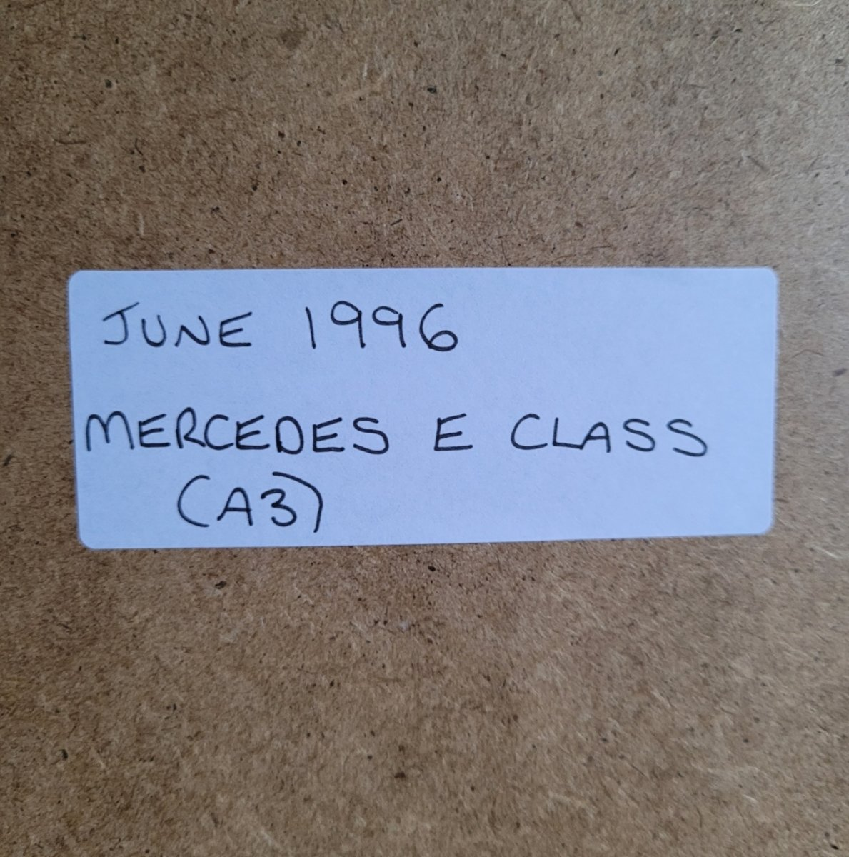 1967 Original 1996 Mercedes E Class Framed Advert For Sale (picture 2 of 3)