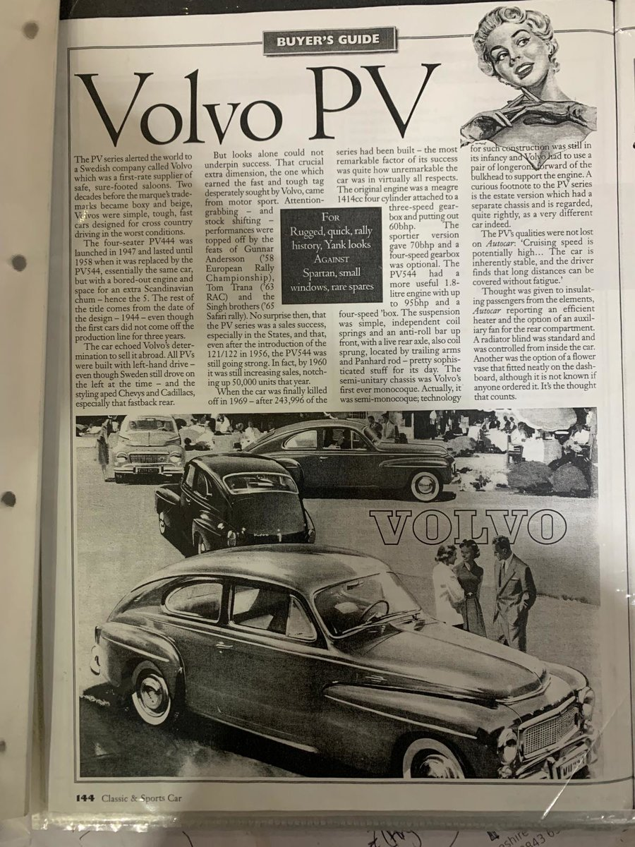 1958 Volvo PV544 Super Rare!! Only 38,000 miles! For Sale (picture 6 of 7)